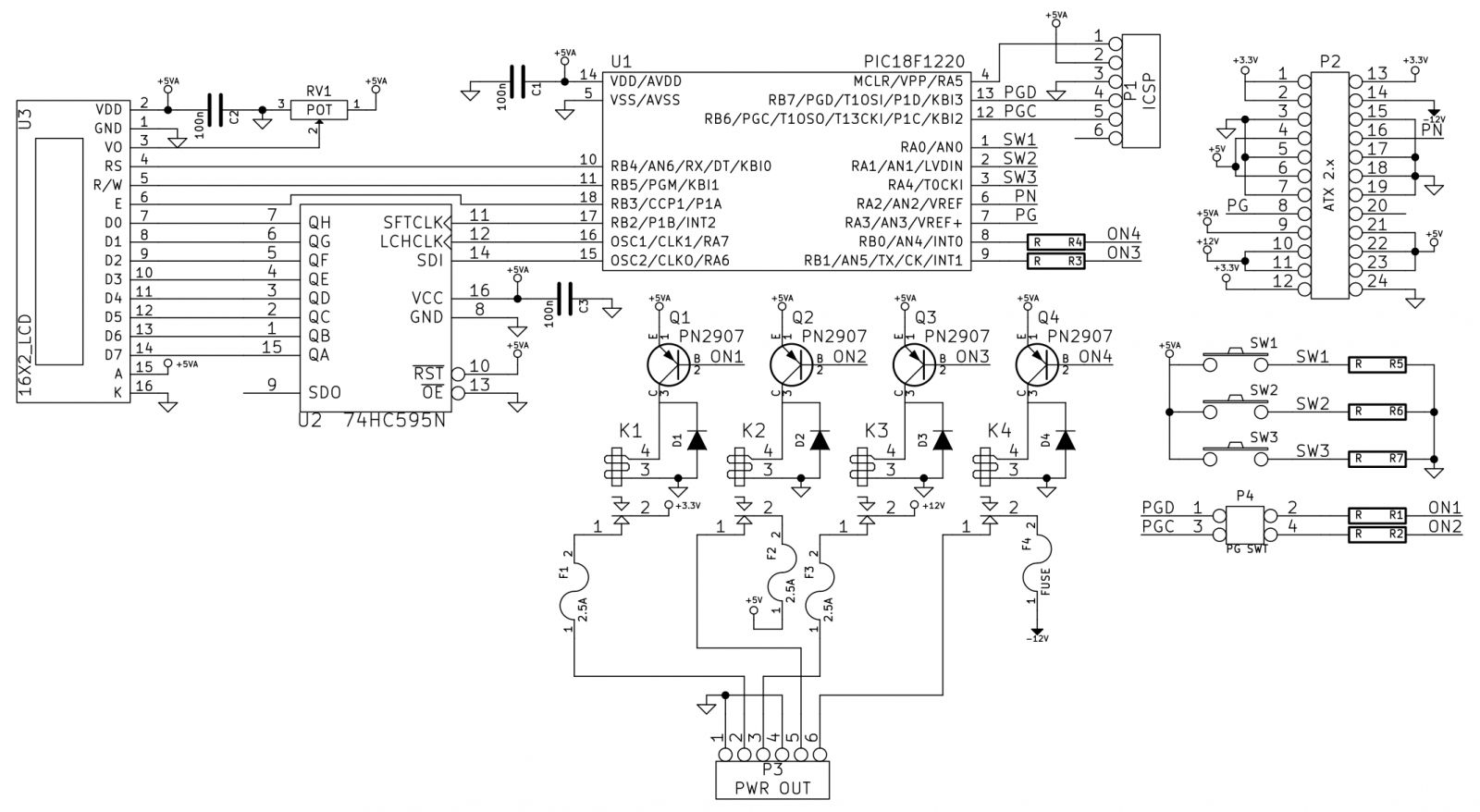 Cpu Power Supply Mod Supercap2fs Website Circuit Diagram Of A Schematic